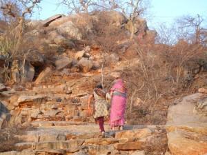 La montée vers le temple